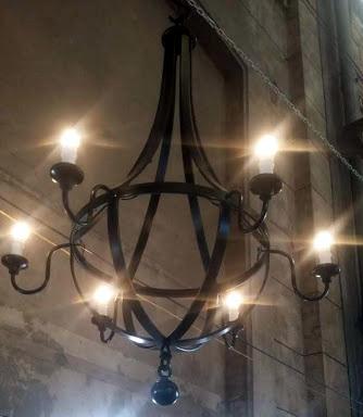 Araña de hierro -  6 luces - Varios tamaños, 1m - 1,40m - 1,70m de alto